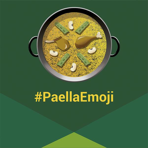 Imagen de la campaña #PaellaEmoji. / LA FALLERA